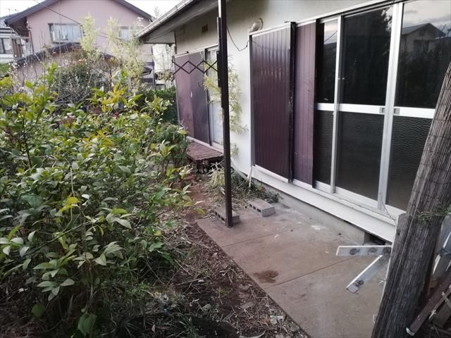 庭の片づけ後